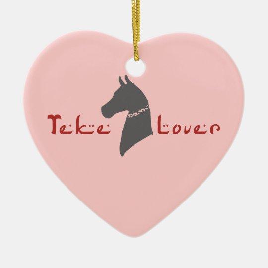 Akhal-Teke Lover Ceramic Ornament