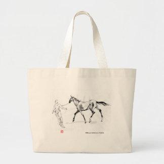 Akhalteke horse NO.0 Jumbo Tote Bag