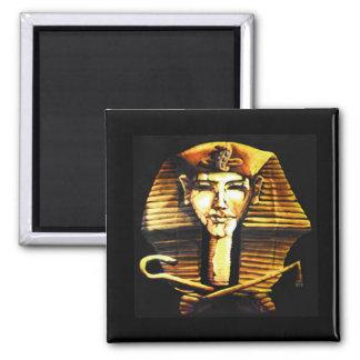 Akhenaten Egyptian Pharaoh Death Mask 2 Inch Square Magnet