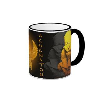 Akhenaton and Nefertiti Ringer Coffee Mug