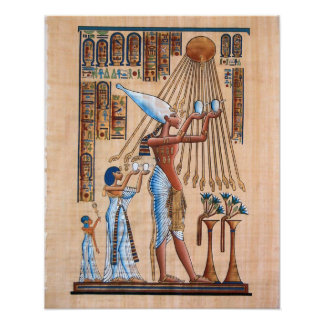 Akhnaton Prays to his God Poster
