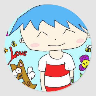 Aki-Kun Classic Round Sticker
