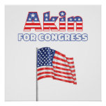 Akin for Congress Patriotic American Flag Posters