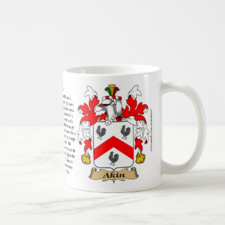 Akin, the Origin, the Meaning and the Crest Coffee Mug