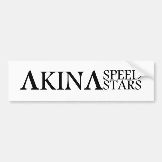 Akina Speed Stars Black and White Bumber sticker