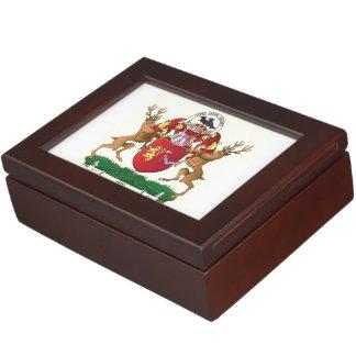 Akins coat of arms large keepsake box