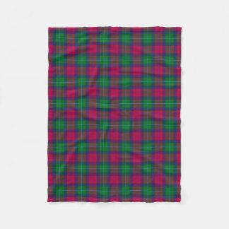 Akins Family Tartan Plaid Pattern Fleece Blanket