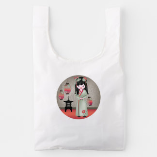 Akira and her lanterns reusable bag