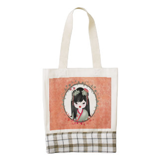 Akira Asian girl Zazzle HEART Tote Bag