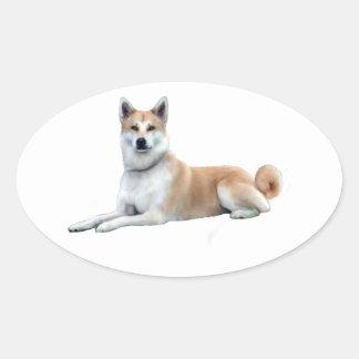 Akita (Akita Inu) - Lying Down Stickers