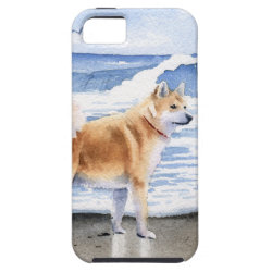 Akita At The Beach iPhone SE/5/5s Case