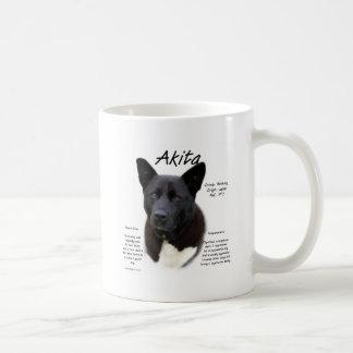 Akita (blk) History Design Coffee Mug