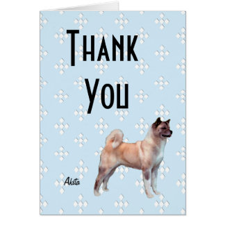 Akita - Blue w/ White Diamonds Design Card