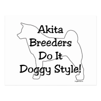 Akita Breeders Postcard