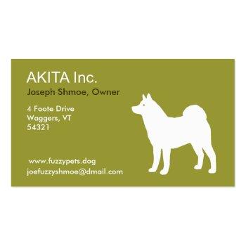 Akita Business Card Templates