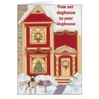 Akita Christmas Card Card