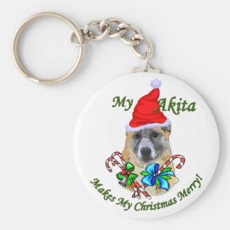 Akita Christmas Gifts Key Chains