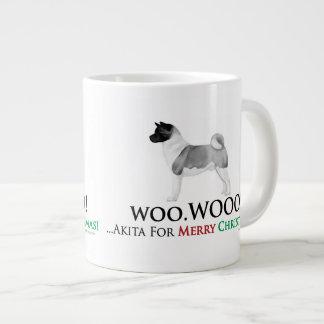Akita Christmas Jumbo Coffee Mug