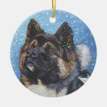 akita christmas ornament
