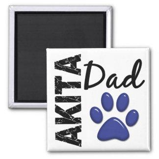 Akita Dad 2 Fridge Magnet