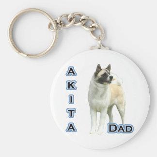 Akita Dad 4 - Keychain