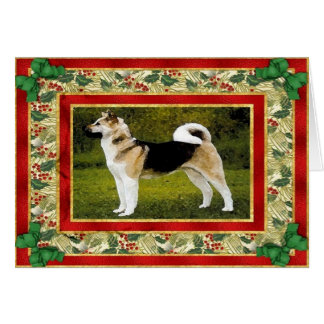 Akita Dog Blank Christmas Card