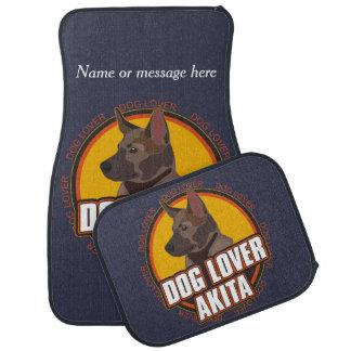 Akita Dog Breed Lover Custom Name Car Floor Mat