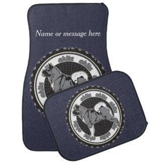 Akita Dog Breed Lover Custom Name / Message Car Mat
