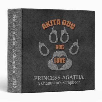 Akita Dog Breed Personalized Scrapbook Binder