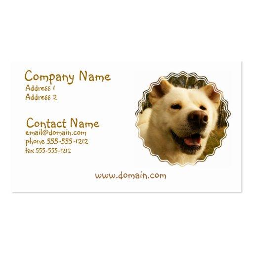 Akita Dog Business Card