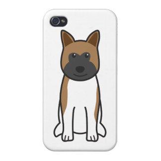Akita Dog Cartoon iPhone 4/4S Cover