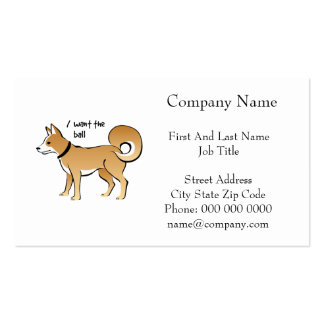 Akita Dog Illustration Fetch Pet Business Cards
