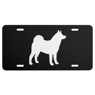 Akita Dog Silhouette License Plate