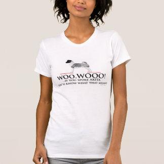 Akita Dog Woo Wooo Womens T-Shirt