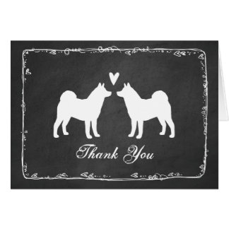 Akita Dogs Wedding Thank You Card