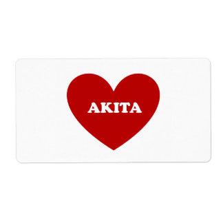 Akita Etiqueta De Envío