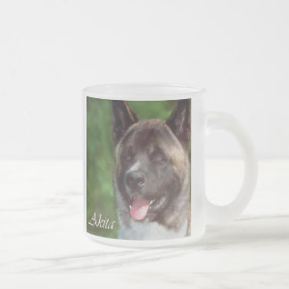 Akita Gifts of Art Frosted Glass Coffee Mug
