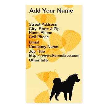 Akita Gold Leaves Business Card