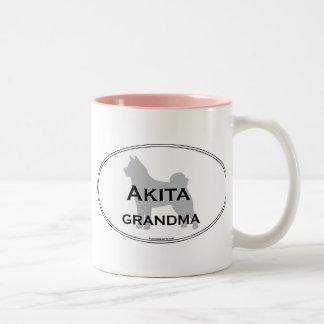 Akita Grandma Two-Tone Coffee Mug