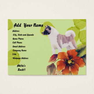 Akita ~ Green Leaves Desgn Business Card