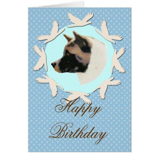 Akita Happy Birthday Card