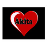 Akita Heart Dog Lover Gifts Postcard