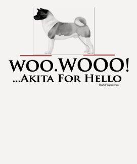Akita Hello Woo Wooo Raglan T-Shirt