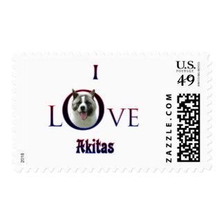 Akita I Love Postage