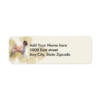 Akita impresionante etiquetas de remite