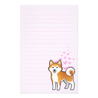 Akita Inu/amor de Shiba Inu Papelería Personalizada