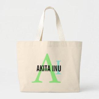 Akita Inu Breed Monogram Bags