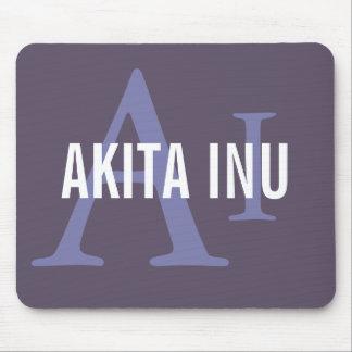 Akita Inu Breed Monogram Mouse Pad