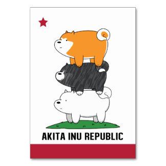 Akita Inu Republic Card