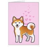 Akita Inu / Shiba Inu Love Card